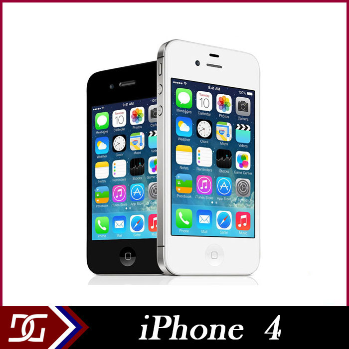 "Original Apple iPhone 4 Factory Unlocked Dual Camera 8GB/16GB/32GB IOS7 3.5"" IPS 960*640 3G 5MP GPS WIFI Cell Phones(China (Mainland))"