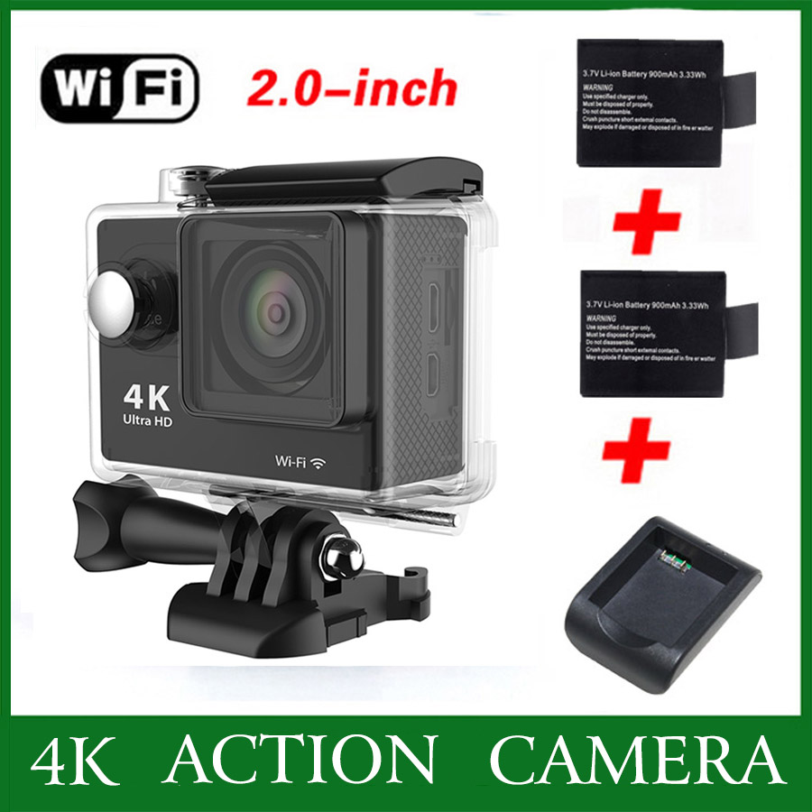 gopro hero 3 style Action camera eken h9 Ultra HD 4K WiFi 1080P 60fps 30M Underwater