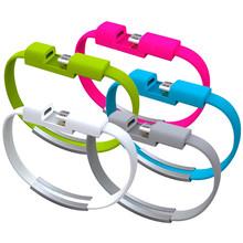 22CM V8 Micro USB кабель силиконовый браслет для Samsung Xiaomi HTC Android смартфонов
