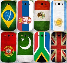 Hotting! 8PCS Retro National Flag hard back cover case For Samsung galaxy s3 i9300 phone case freeshipping(China (Mainland))