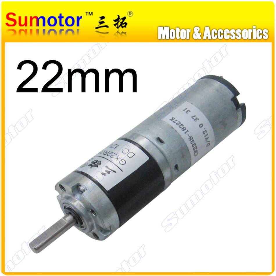 Gx22 d 22mm 12v small robot motor high torque low speed for 24v dc motor high torque low speed