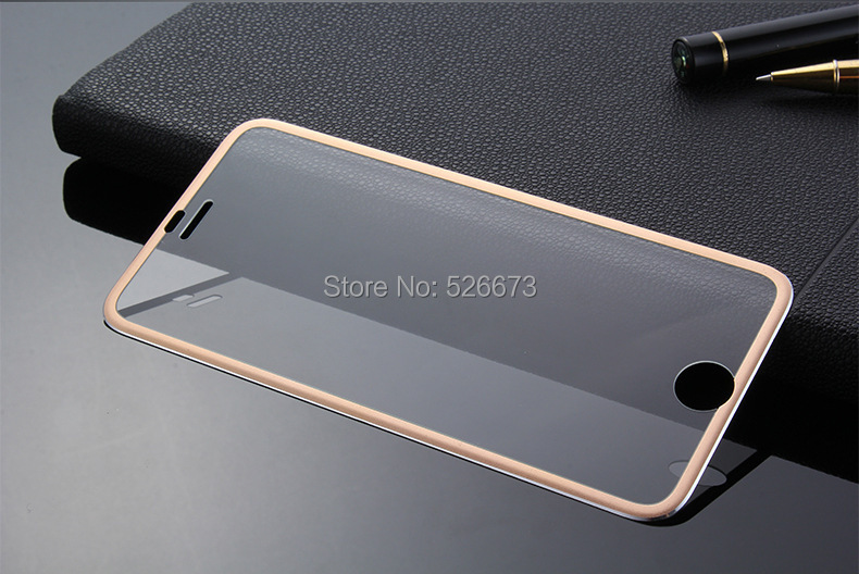 10pcs/lot Titanium 3D Curve Fit Full Coverage Screen Protector Tempered Glass for iPhone 6 6s,Anti Scratch + Drops/Dust Proof(China (Mainland))
