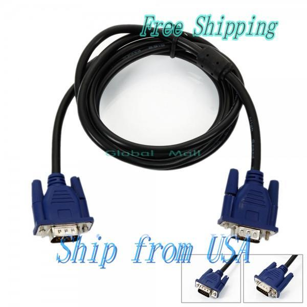 Ship From USA 5 FT SVGA VGA Monitor Male to Male Extension Cable Blue CL092BU(China (Mainland))