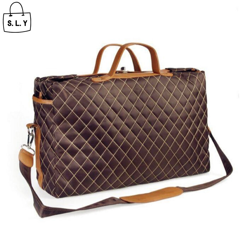 Fashion Large woman mens Shoulder Travel duffle bags nylon + leather high quality waterproof for young men women AW257<br><br>Aliexpress