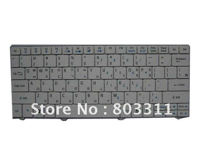 Free shiping:Brand New laptop keyboard for Acer Aspire ONE 751 1410 1810T white color KR version keyboard(China (Mainland))
