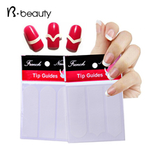 1pack Nail Art French Tip Guides Sticker Acrylic False Nail Tips Decals DIY Manicure Styling Nail Form Fringe Tools(China (Mainland))