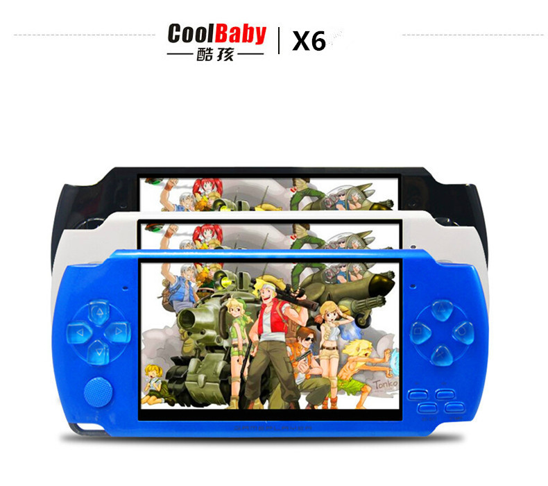 Coolboy X6 intelligence console handheld game consoles and built 9999 in 1 games handheld console(China (Mainland))