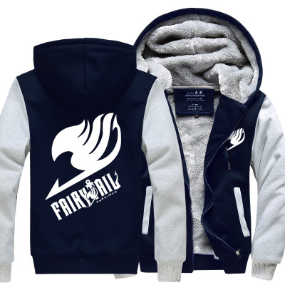 New Winter Jackets and Coats Fairy Tail hoodie Ainme Luminous Hooded Thick Zipper Men SweatshirtsОдежда и ак�е��уары<br><br><br>Aliexpress