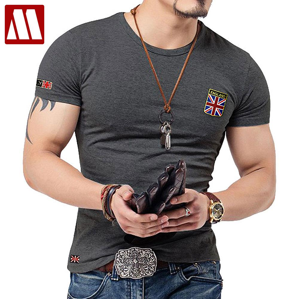 Embroidered Flag T Shirts Men Designer Clothes Vintage