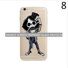 Transparent Clear carton Soft Silica Gel TPU Case Silicone Cover for iPhone 5 5s 6 6s Plus Ultra Thin Mobile Phone Case