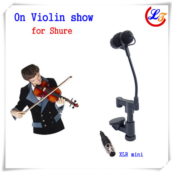 Professional Lapela Instrument Violin Microphone Mandolin Viola Microfone for Shure Wireless Transmitter XLR Mini Mikrofon(China (Mainland))
