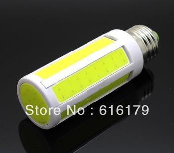 Free Shipping 10pcs/lot Super Bright COB Corn Bulb 9W LED Light E27 Home Bedroom Lamp 7 Intergrated Chip Cool Warm White