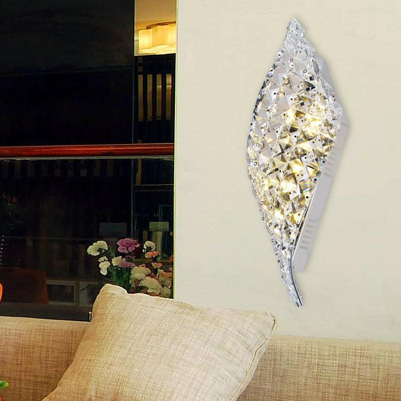 Fasion simple modern crystal wall lamp LED decorative lamp aisle corridor living room bedroom bedside wall light(China (Mainland))
