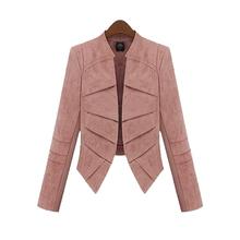 S-5XL European Spring Autumn Plus Size Women Clothes Khaki Long Sleeve Thin Blazer Female Black Pink Short Suit Jackets YB253