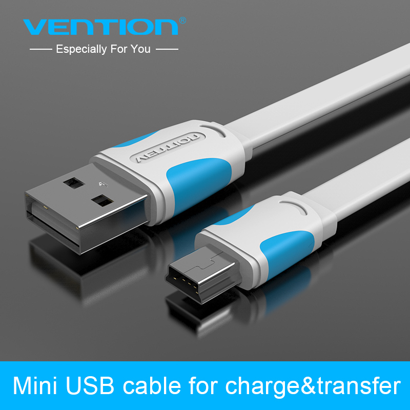 Vention MiNi USB cable 25cm 50cm 100cm 150cm 200cm mini usb to usb data sync charger cable for MP3 MP4 camera HDD mobile phone(China (Mainland))