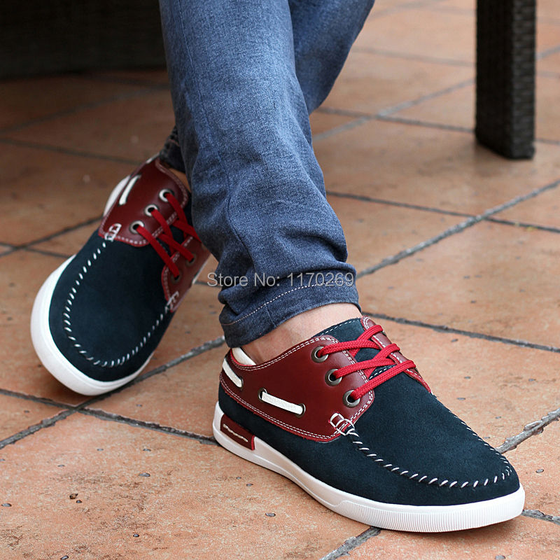 2016 Autumn men boat shoes genuine leather men fashion oxfords handmade shoes men casual flat shoes men loafers free shipping(China (Mainland))
