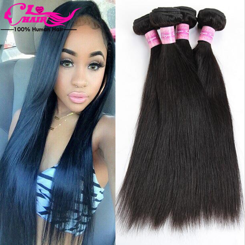 Brazilian Virgin Hair Brazilian Virgin Hair Straight Brazilian Virgin Hair 4 Bundles Mink Brazilian Hair 4 Bundle Deals ILOVE 1B