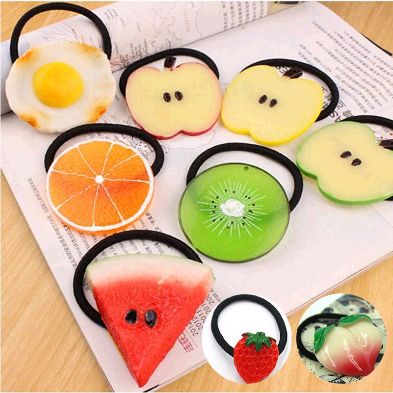 New Summer Style Many Patterns Fruits Slice Fashion Hair font b Accessories b font for Girls