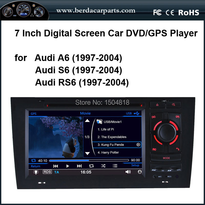 Car DVD/GPS player with CANBUS for Audi A6 ,S6,RS6 (1997-2004) multi-language OSD,touch screen car DVD,(China (Mainland))