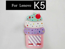 Fashion 3D Cartoon Cute Ice Cream cup Soft Silicon Rubber Skin Back Shell Case Lenovo A536 / K5 A319/ A2010 Cover Capa - Catherine Store store