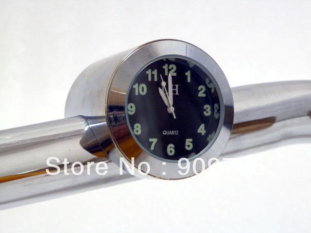 "7/8"" - 1"" Motorcycle Handlebar Bar Mount Clock for ATV Motor Honda Suzuki Yamaha Kawasaki Harley Cruiser Bike Custom Chopper(China (Mainland))"