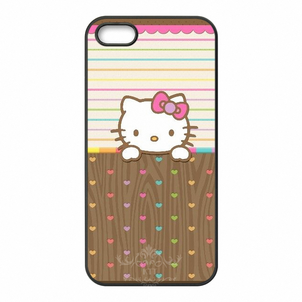 Beautiful Hello Kitty cell phone bags case cover for iphone 4S 5S 5C SE 6S 7 PLUS Samsung S3 S4 S5 S6 S7 note 2 3 IPOD Touch 4 5(China (Mainland))