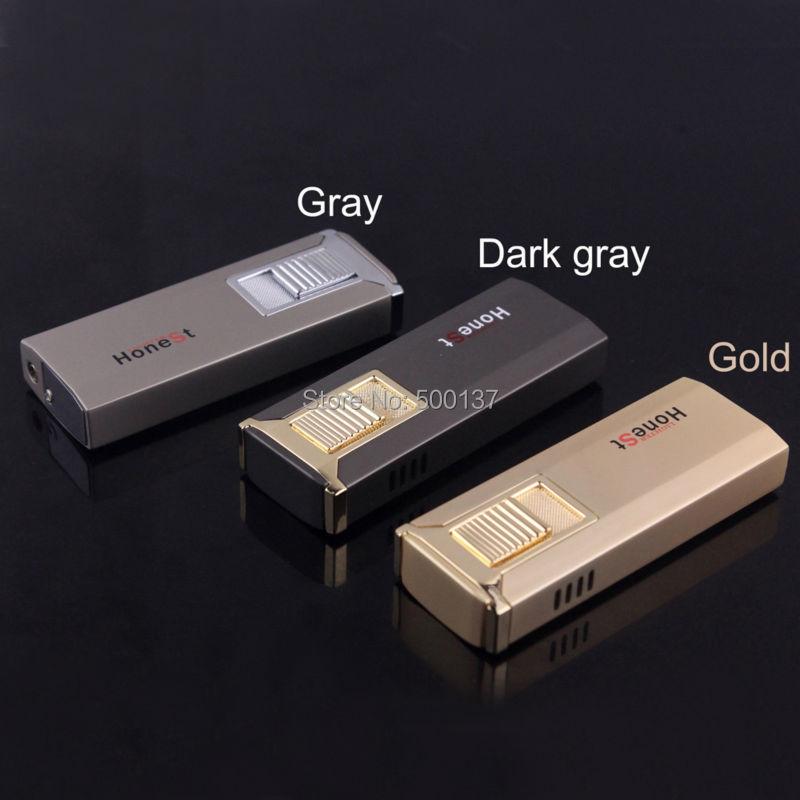 ถูก ซื่อสัตย์หรูหราดึงลงอิเล็กทรอนิกส์บุหรี่ซิการ์บิวเทนก๊าซเบาปลอดภัยปกทอง/สีเทาMH-1