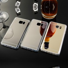 Luxury Mirror Electroplating Soft Clear TPU Cases For Samsung NOTE3 NOTE4 mirror phone shell For note5 Back Cover Bags PK S7