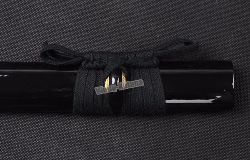 Buy Black  Blade Katana Sword Sharp Full Tang Japanese Samurai Sword Hand Forged Folded Steel Knife cheap