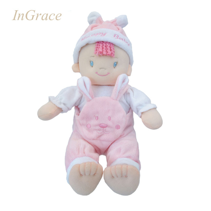 InGrace brand 4 colors baby born dolls high quality factory direct baby dolls with animal bibs free shipping machine washable(China (Mainland))