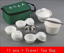 11 PCS/Set new 2014 travel tea set ceramic portable kung fu tea set teacup Chinese porcelain tea set the chinese kung fu teapot