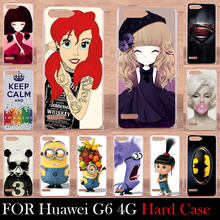 For Huawei Ascend G6 4G LTE Edition Case Hard Plastic Mobile Phone Cover Case DIY Color Paitn Cellphone Bag Shell  Shipping Free