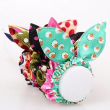 Buy 12pcs/lot Original Head Flower Hair Accessories Headdress Korea Trinkets Rabbit Ears Fabric Polka Dot Rubber Band Hair Rope Ring for $1.23 in AliExpress store