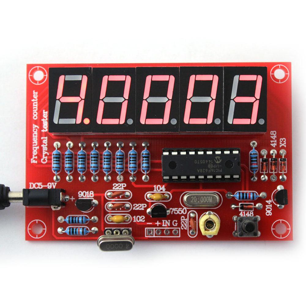 1 DIY Kits RF 1Hz-50MHz Crystal Oscillator Frequency Counter Meter Digital LED tester meter - KEWEIDIANZI store