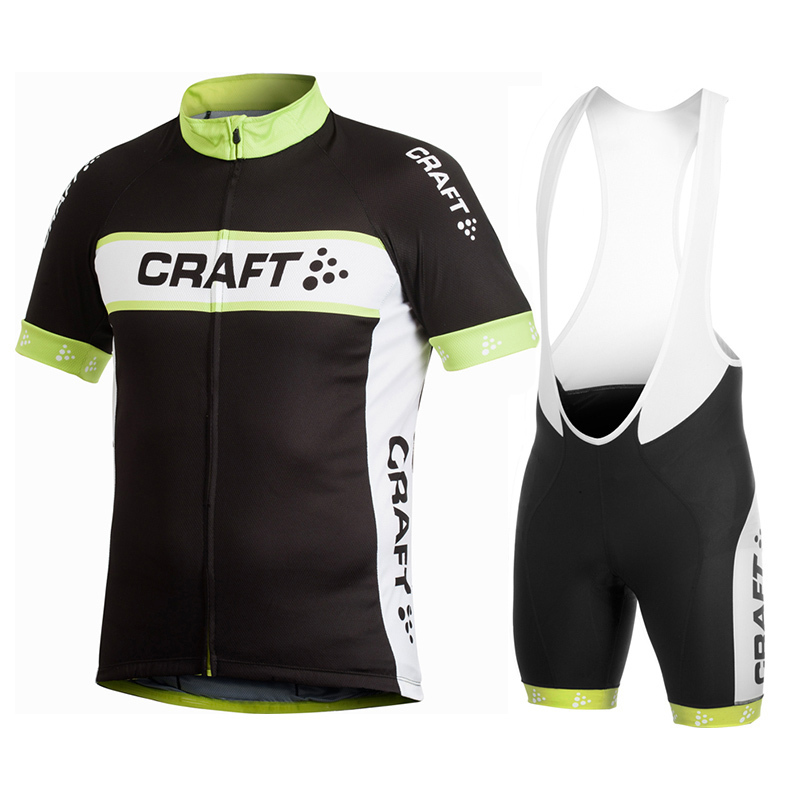 2015 CRAFT Black&White Pro Cycling MTB Bike Jersey Bicycle Clothing Short Sleeve (bib) Shorts Ropa Ciclismo Quick Dry(China (Mainland))