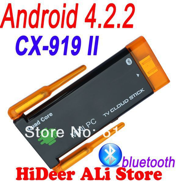 CX-919 II Quad core Rk3188 CX 919II twin Dual wifi antenna android 4.2.2 bluetooth tv dongle built in google android tv stick(China (Mainland))