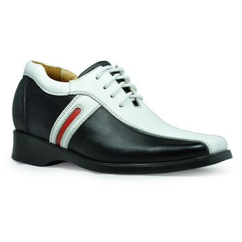 1252- White  elevator  leather shoes/walking shoes/cycling shoes comfortable and trendy  -  Free EMS shipping .