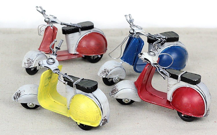 car-styling Iron ladies small sheep motorcycle model toys for children