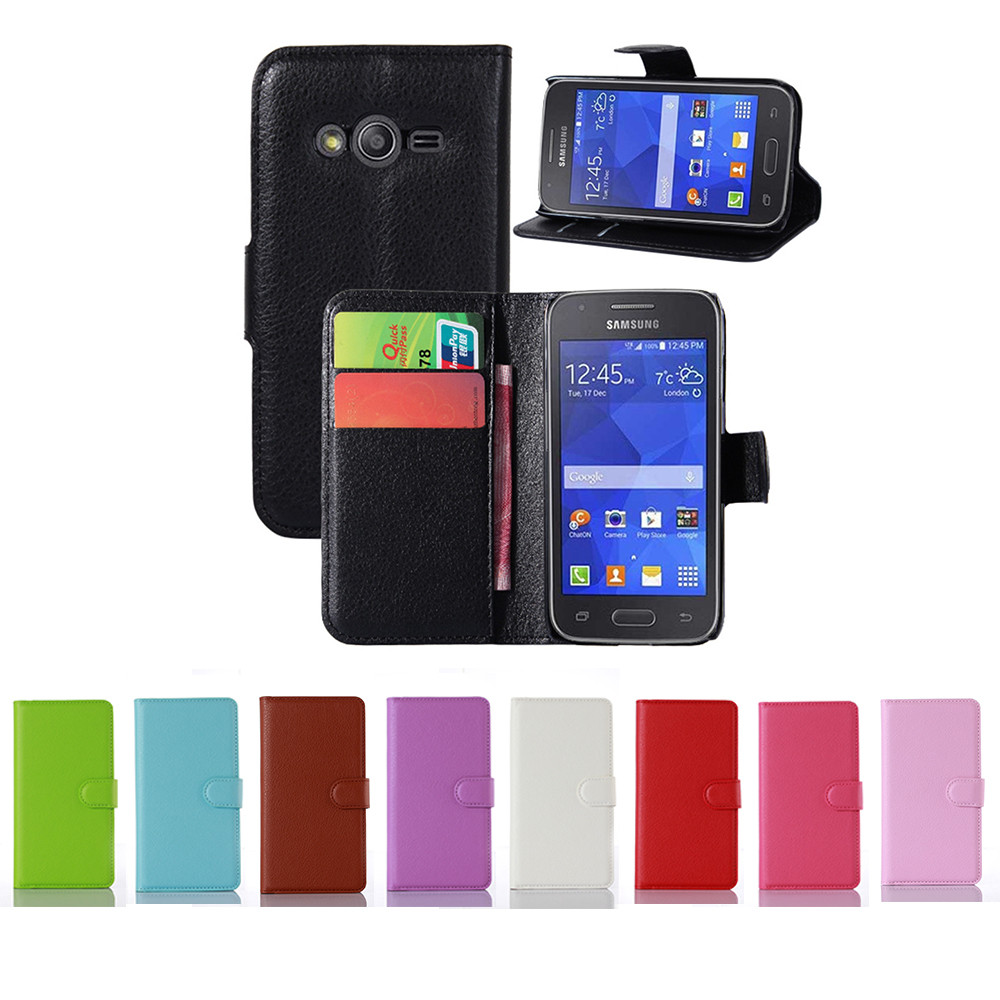 Ace 4 Neo G318H New Litchi Leather Case Flip Case For Samsung Galaxy Ace 4 G313H G313F Neo Duos