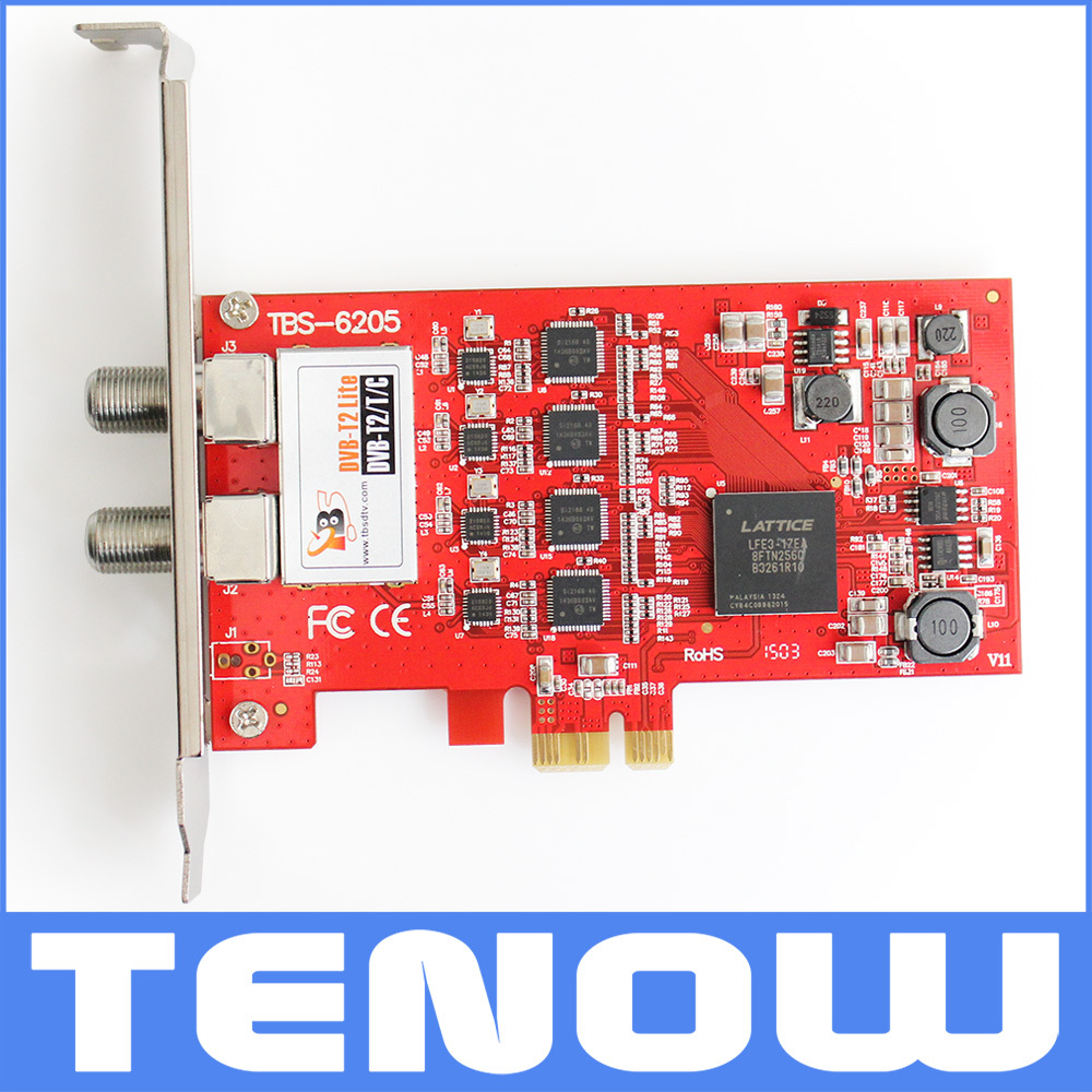 TBS6205 DVB-T2/T/C Quad TV Tuner PCIe Card for Watching UK Freeview SD and HD Channels on Desktop PC(China (Mainland))