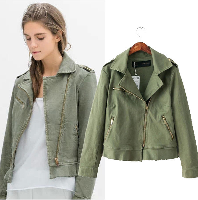 Ladies khaki green jacket – New Fashion Photo Blog