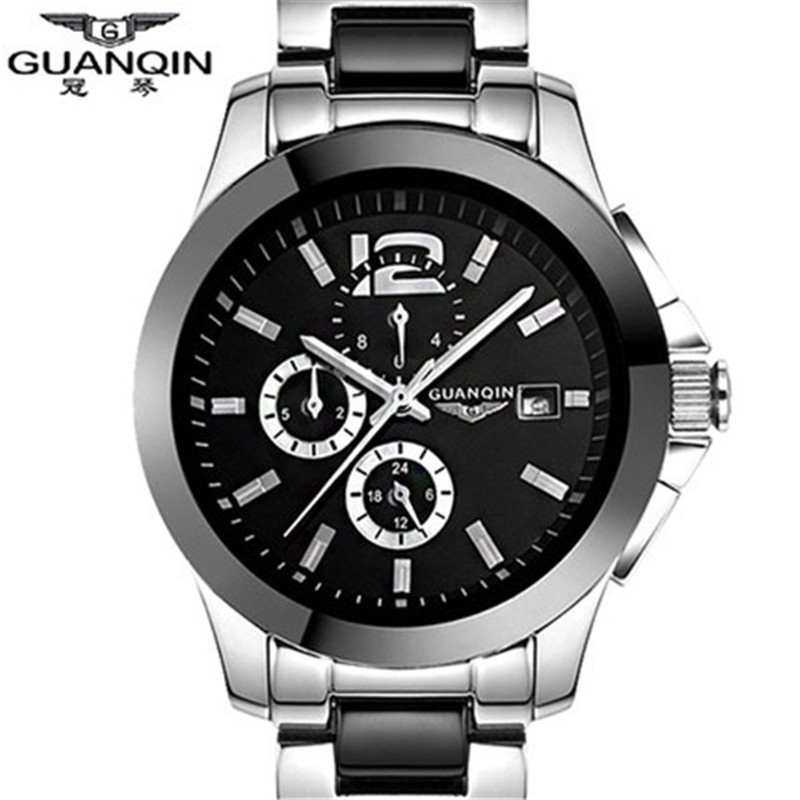 TOP brand GUANQIN relojes Mechanical Hand Wind watches Ceramic leather band fashion casual luxury watches men relogio masculino<br><br>Aliexpress