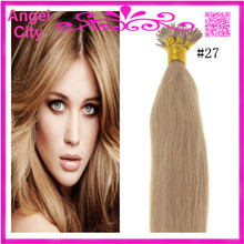Cheap Brazilian Virgin Straight Keratin Fusion Hair Extension Stick Hair/I Tip Pre-bonded Hair 1G/S 50G/PC 1Pc/Lot In Stock