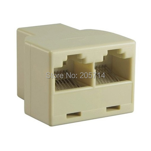 RJ45 8P8C Network Cable 2 Way Y Splitter Double Adapter 3 Port Ethernet LAN Coupler And Extender Plug Coupler(Hong Kong)