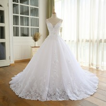 Gorgeous Ball Gown Wedding Dress With Lace Vestido De Novia Princesa Vintage Wedding Dresses Real Image Bridal Gown 2016(China (Mainland))