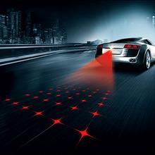 Newest Anti-Fog Anti Collision Rear-End Car Laser Tail 12V Led Car Rainproof Fog Lamp Auto Rearing Warning Projector(China (Mainland))