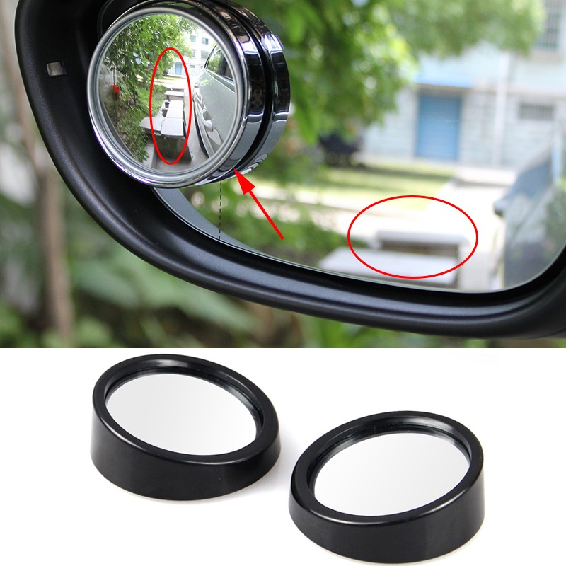 Car Styling 2pcs/lot universal Driver 2 Side Wide Angle Round Convex Car Vehicle Mirror Blind Spot Auto Rearview For All Car