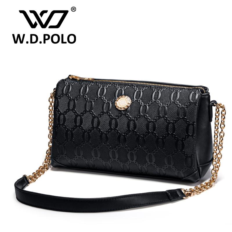 W.D POLO Women long chain handbag women shoulder bag lady messenger bag summer shopping bags high quality original design 3029(China (Mainland))