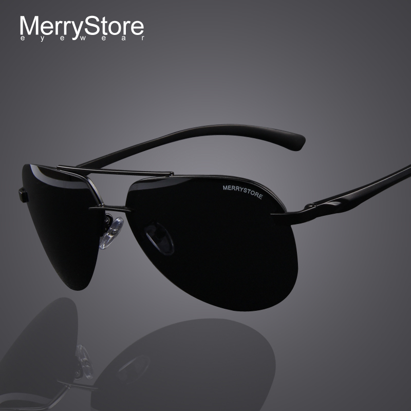 MERRYSTORE Brand Men 100% Polarized Aluminum Alloy Frame Sunglasses Fashion Men's Driving Sunglasses High quality 7 Color(China (Mainland))