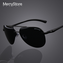 2014 New Brand Men 100% Polarized Aluminum Alloy Frame Sunglasses Fashion Men's Driving Sunglasses High quality 2 Color